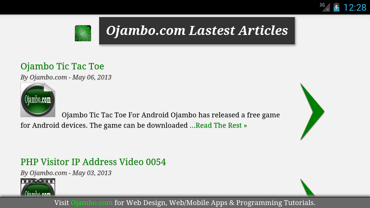 Ojambo.com Feed 2.0- screenshot