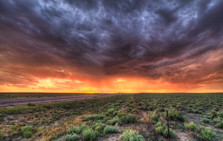 Kiowa sunset by Jeff Niederstadt - Landscapes Sunsets & Sunrises (  )