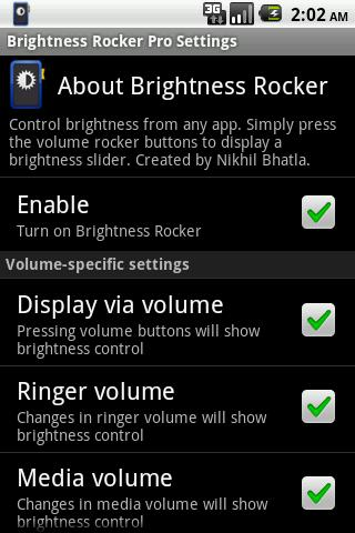 Brightness Rocker Pro - screenshot