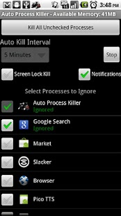 Auto Process Killer Free -1.5+- screenshot thumbnail