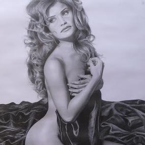 Helena by Kile Zabala - Drawing All Drawing ( charcoal, grafito, dibujo, retrato )
