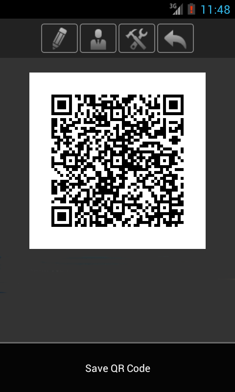 Cardfix QR Business Card - screenshot