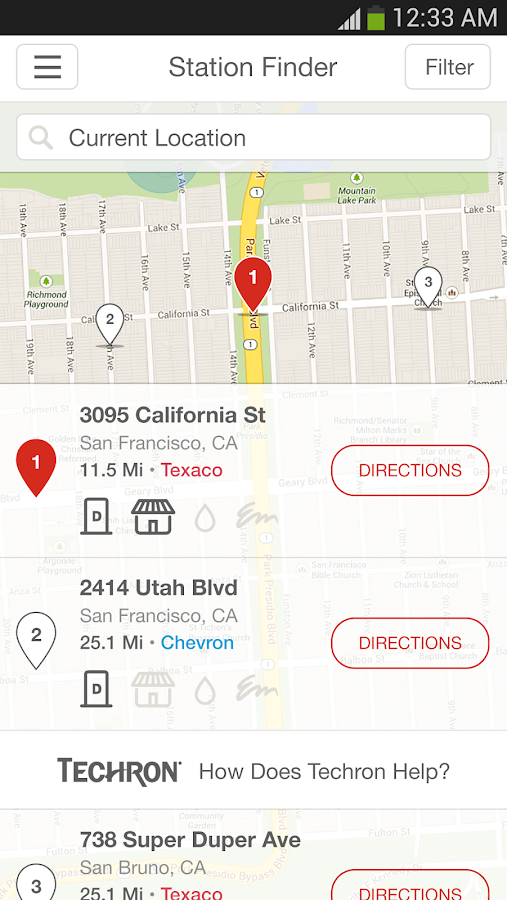 Texaco Station Finder- screenshot