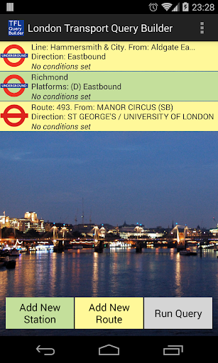London Transport Query Builder