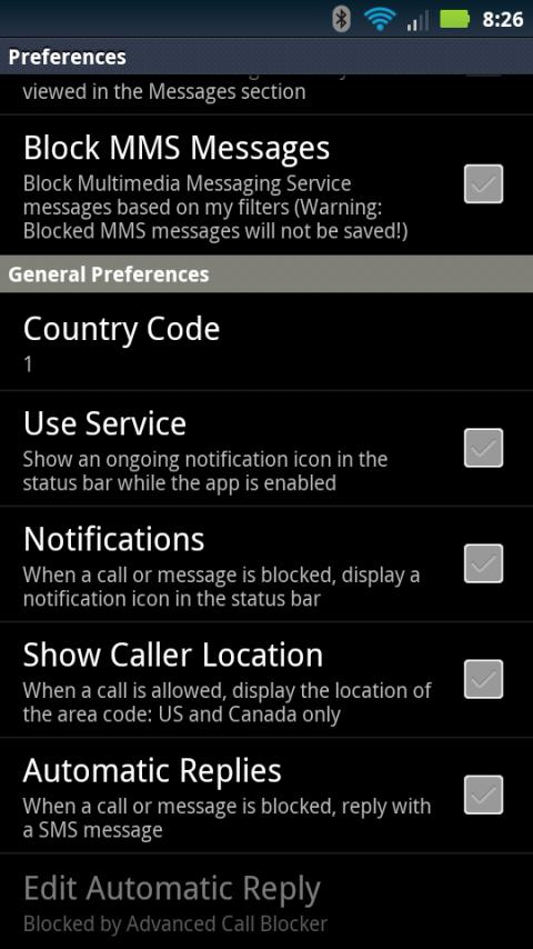 Advanced Call Blocker - screenshot