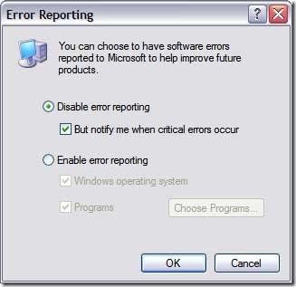 error-reporting