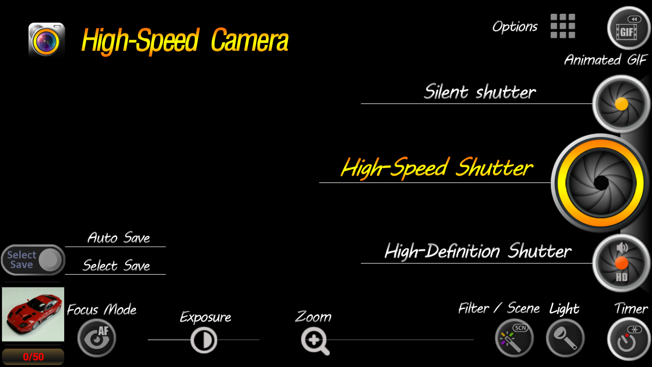 High-Speed Camera (GIF,Silent) - screenshot