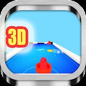 3D Air Hockey blue Game
