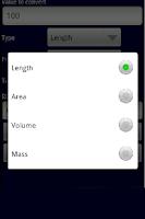 Screenshot of BASIC UNIT CONVERTER