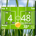 Football Digital Weather Clock logo