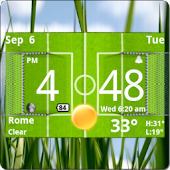 Football Digital Weather Clock