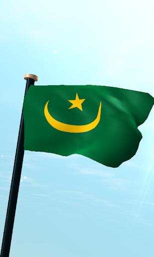 毛里塔尼亞旗3D免費動態桌布