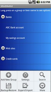 MindWallet Tablet - screenshot thumbnail