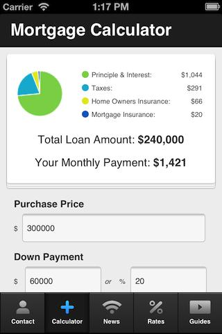 Dirk Bernd's Mortgage Calc - screenshot