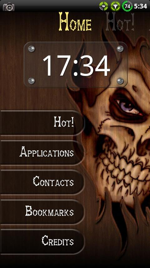 Wood Skull ssLauncher Theme- screenshot