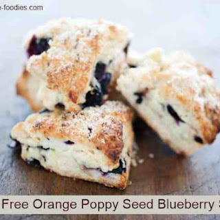 Gluten Free Orange Poppy Seed Blueberry Scones
