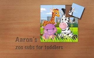 Screenshot of Aaron's Cute Zoo Cubs Puzzles