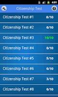 Screenshot of US Citizenship Test