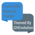 EvolveSMS Folded Blue Material icon