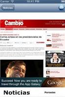 Screenshot of Revistas