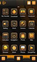 Screenshot of Golden Steel GO Launcher Theme
