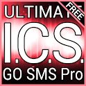 Red ICS GO SMS Theme logo