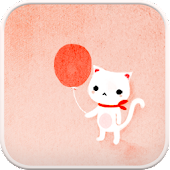 Balloon Cat go launcher theme