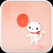 Balloon Cat go launcher theme
