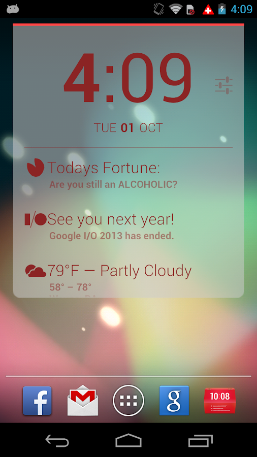 Better DashClock Key- screenshot