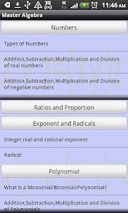 Master Algebra Lite- screenshot thumbnail