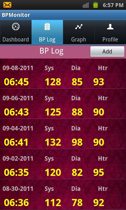BPMonitor- screenshot