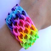 Colored gummy bracelets