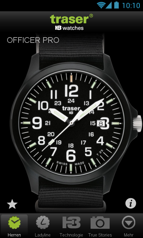 traser® H3 – Swiss made watch - screenshot