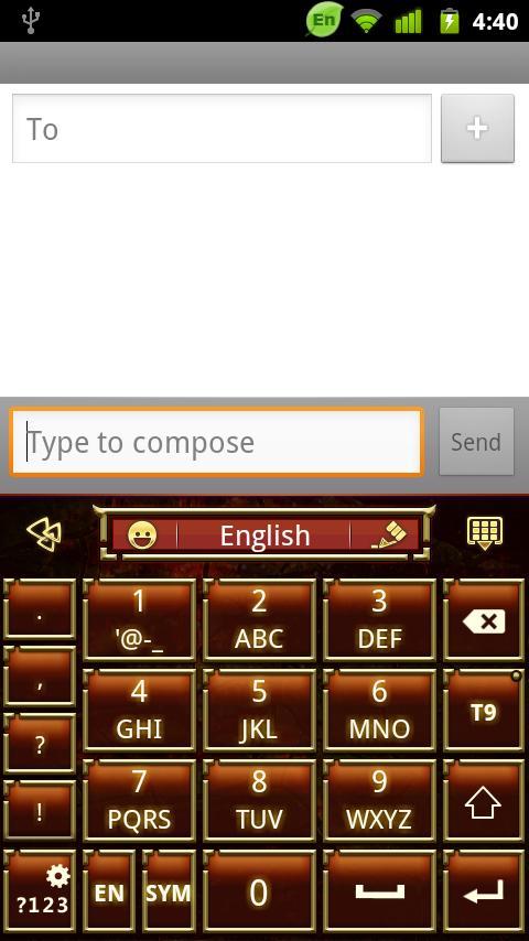 GO Keyboard Classic Art theme - screenshot