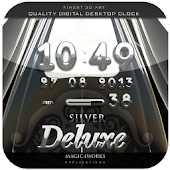 silver deluxe digital clock