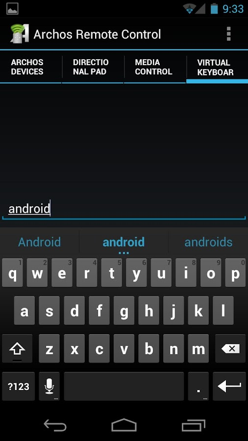 Archos Remote Control- screenshot
