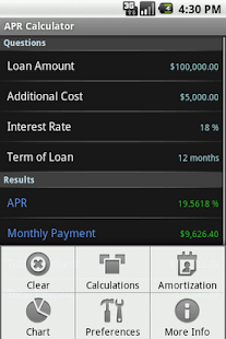 APR Calculator - screenshot thumbnail