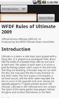Screenshot of WFDF Rulebook