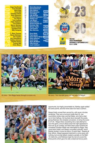 WASPS Official Programmes - screenshot