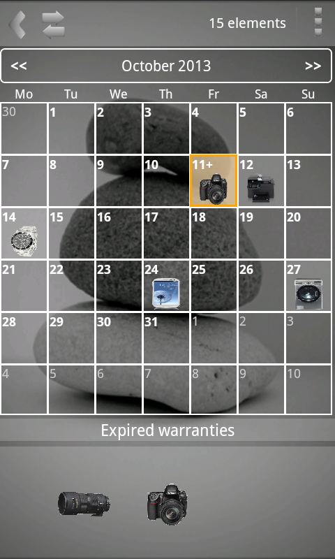My Warranties Lite- screenshot