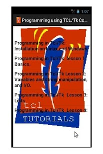Tutorials in Tcl/Tk (Full)- screenshot thumbnail