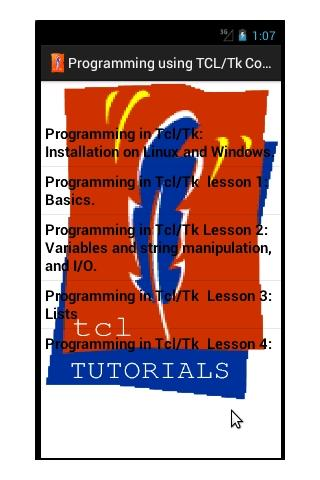 Tutorials in Tcl/Tk (Full)- screenshot