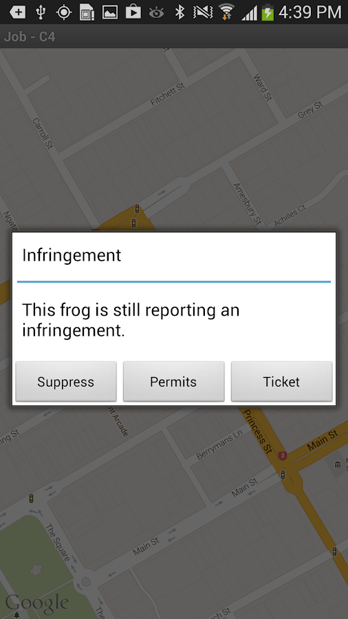 Frogparking Enforcement - screenshot