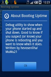 Bootlog Uptime- screenshot thumbnail