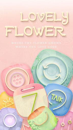 Lovely Flower GOLauncher Theme