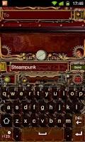 Screenshot of Steampunk GO Keyboard Theme