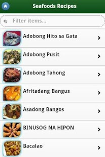 Pinoy Food Recipes - screenshot thumbnail