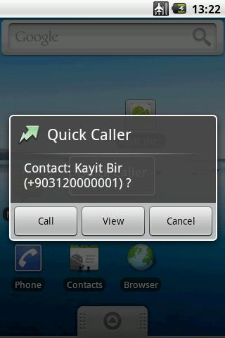 Quick Caller - screenshot