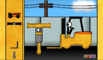 Screenshot of Kids Trucks: Puzzles - Golden