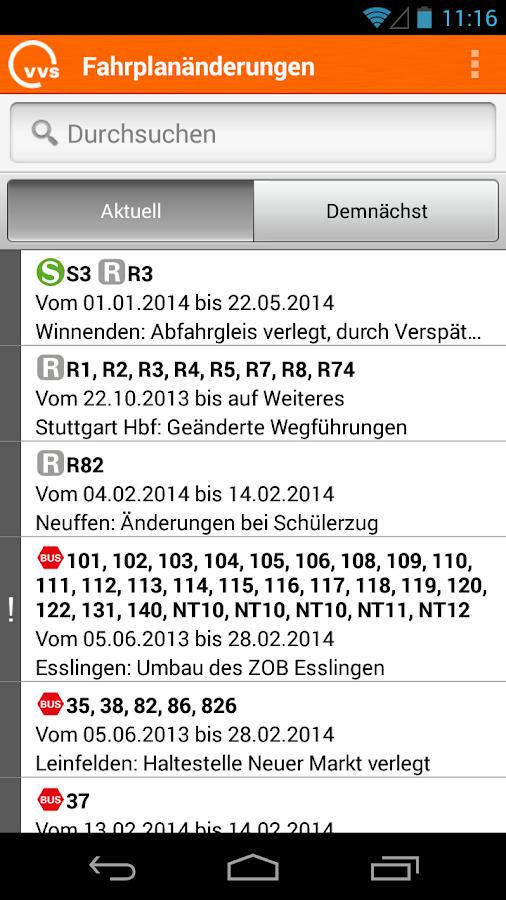 VVS Mobil - screenshot